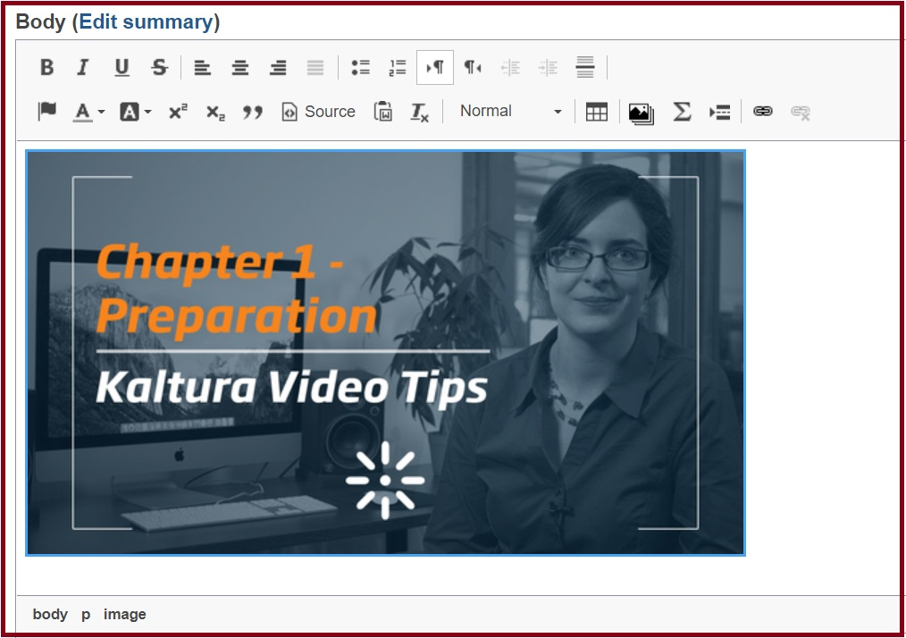 Display Video on editor