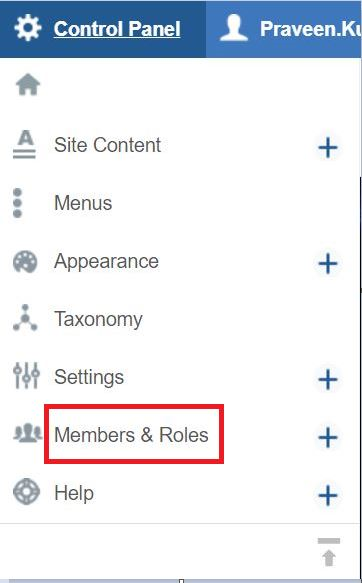 Members and Roles