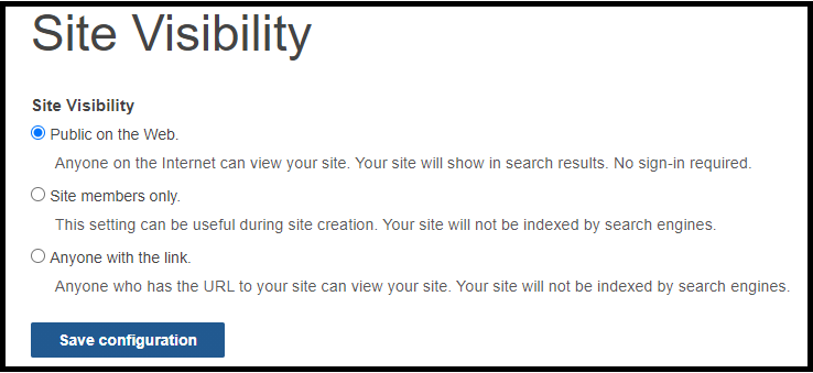 openscholar_site_visibility